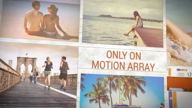 Falling Slides: After Effects Templates