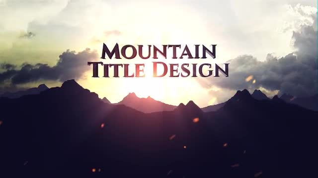 Mountain Title: Motion Graphics Templates
