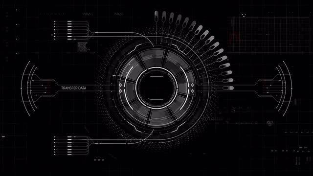 Data HUD Interface: Stock Motion Graphics