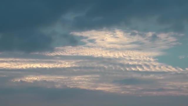 Winter Clouds Under Blue Sky: Stock Video