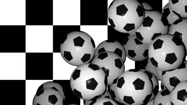 Soccer Balls Transition: Stock Motion Graphics