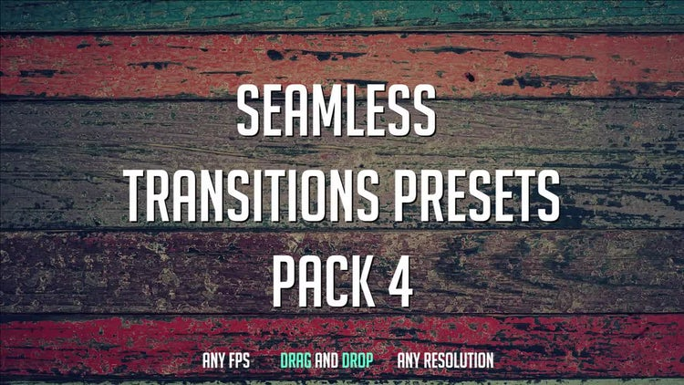 Seamless Transitions Presets (Pack 4): Premiere Pro Presets