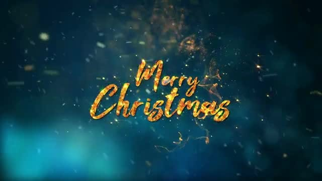 Merry Christmas Magical Text Reveal: Stock Motion Graphics