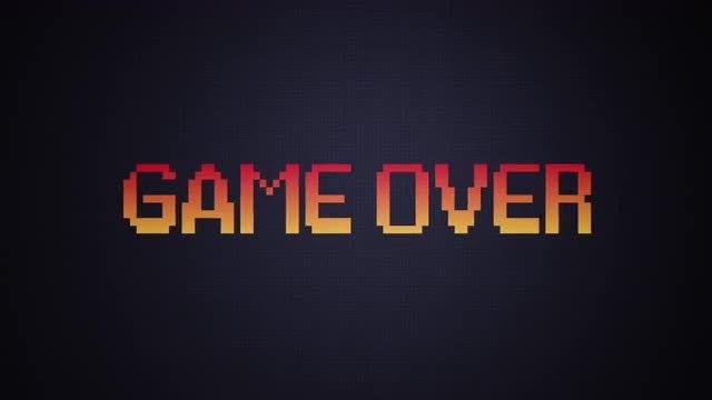 Game Over Retro Arcade Background: Stock Motion Graphics
