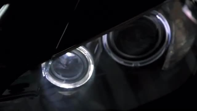 Close-up Shot Of Car Headlights: Stock Video