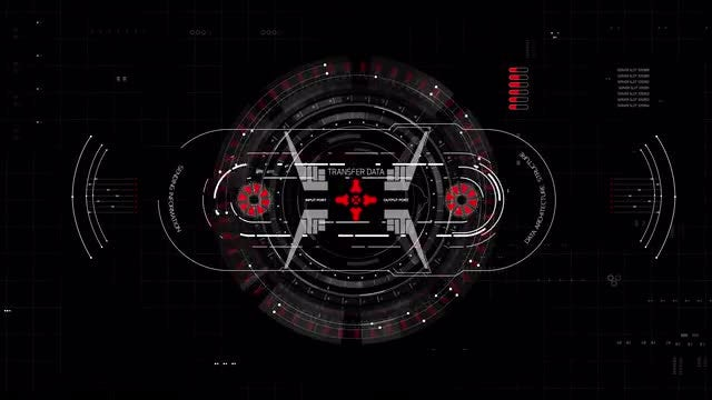 Data Structure HUD Interface: Stock Motion Graphics
