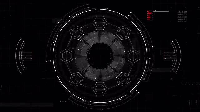 Rotary HUD Display: Stock Motion Graphics