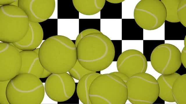 Tennis Balls Transition: Stock Motion Graphics