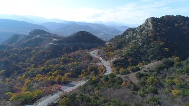 Winding Road In The Mountains: Stock Video