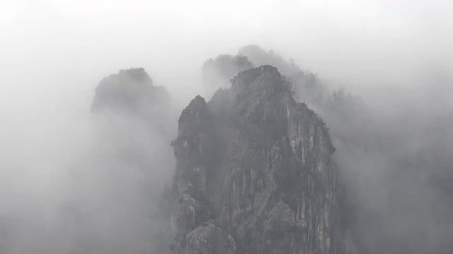 Mountain In The Fog: Stock Video