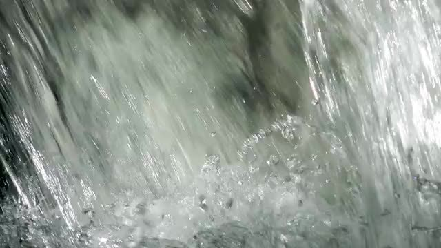 Base Of A Waterfall: Stock Video