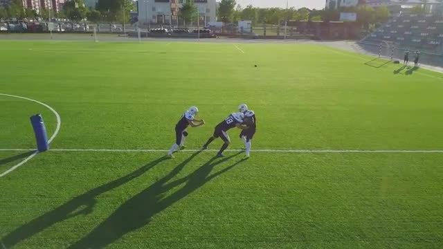 Football Tackling Drills On Field: Stock Video