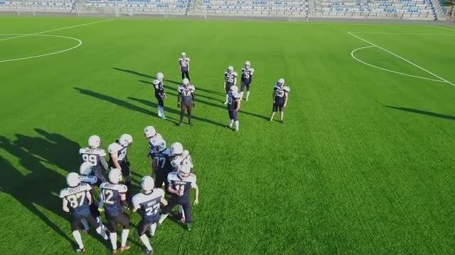 Teams Play Football: Stock Video