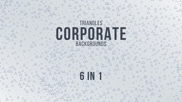 Triangles Corporate Backgrounds: Motion Graphics