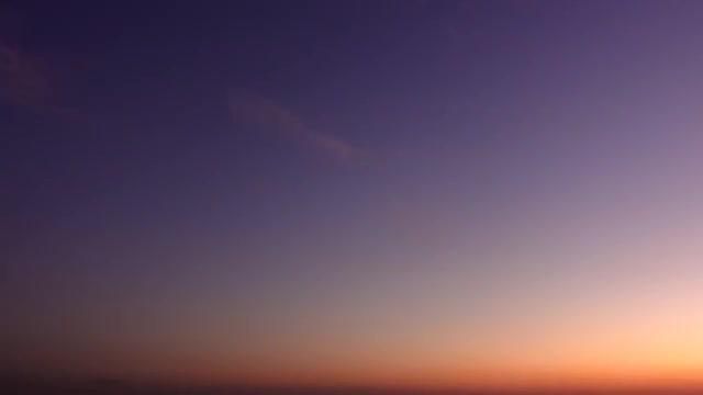 Orange Purple Sunset Sky Time Lapse: Stock Video