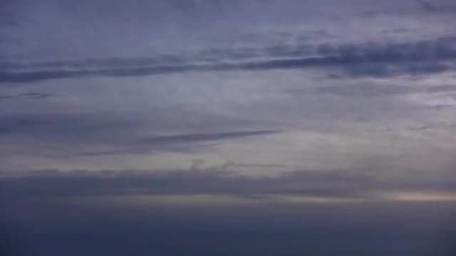 Streaked Navy Blue Sunset Clouds: Stock Video