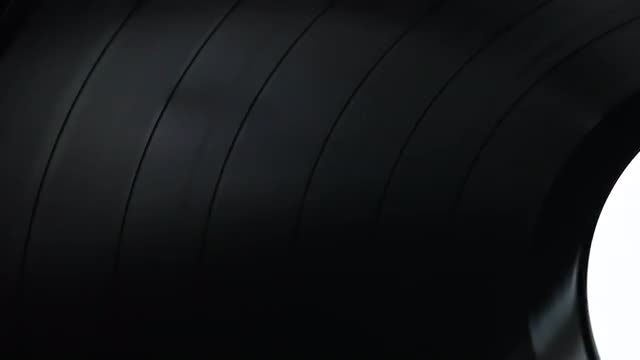 Glossy Vinyl Record Rotation: Stock Video