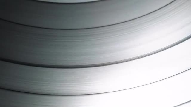 Light Glaring On Vinyl Record: Stock Video