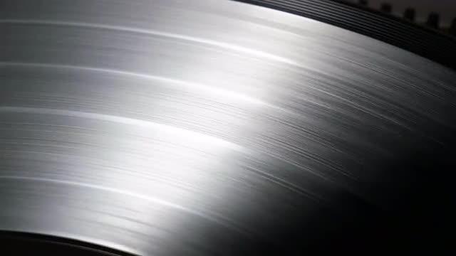 Glare On Spinning Vinyl Record: Stock Video