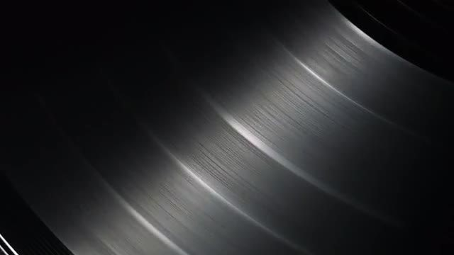 Closeup Of Spinning Vinyl: Stock Video