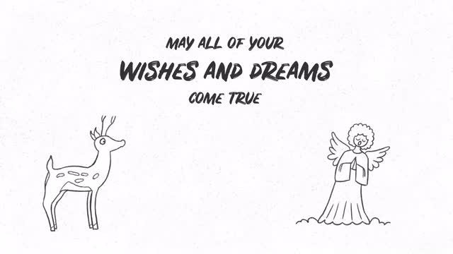 Hand Drawn Christmas Wishes: After Effects Templates