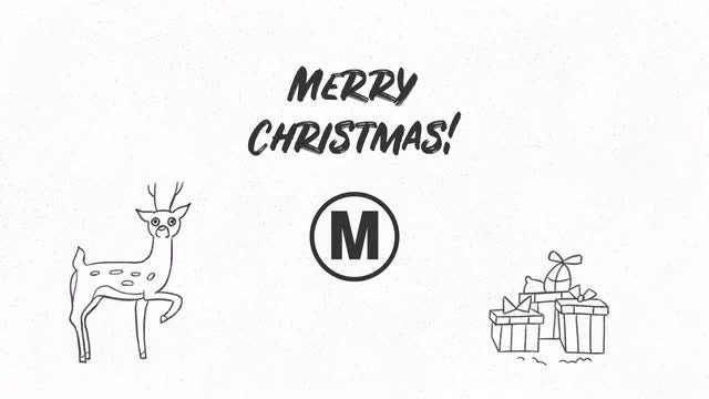Hand Drawn Christmas Wishes: Premiere Pro Templates