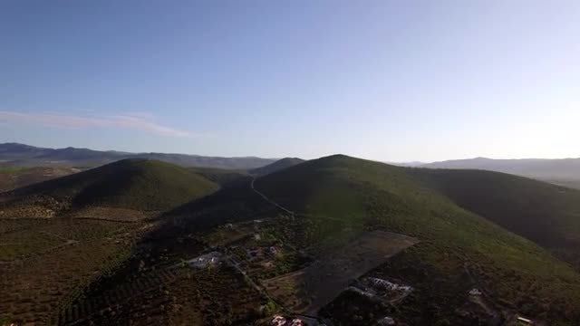 Aerial Shot Of Green Hills: Stock Video