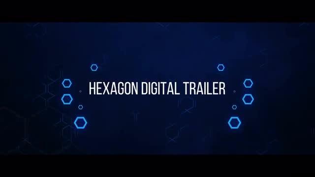 Hexagon Digital Trailer: Premiere Pro Templates