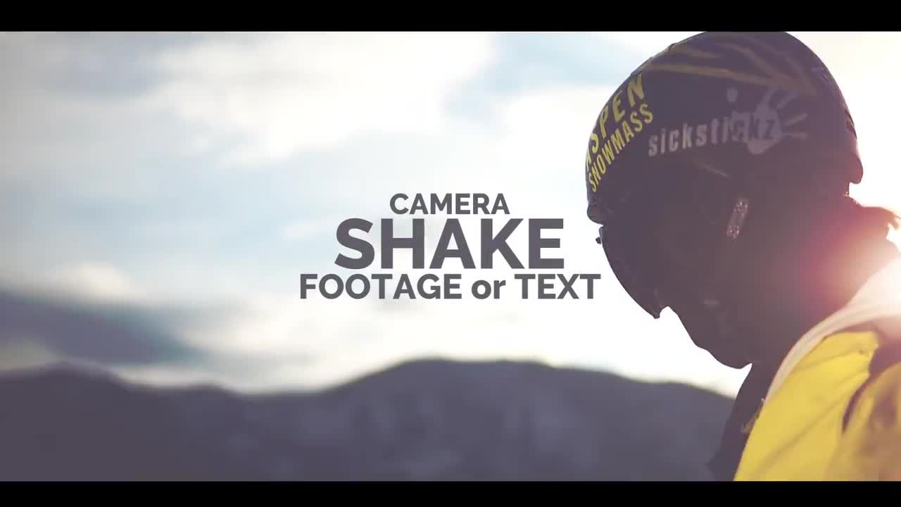 Shake The Camera Or Text Presets 142394 for Premiere Pro