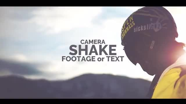 Shake The Camera Or Text: Premiere Pro Presets