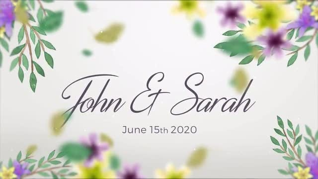 Wedding Slideshow Floral: After Effects Templates