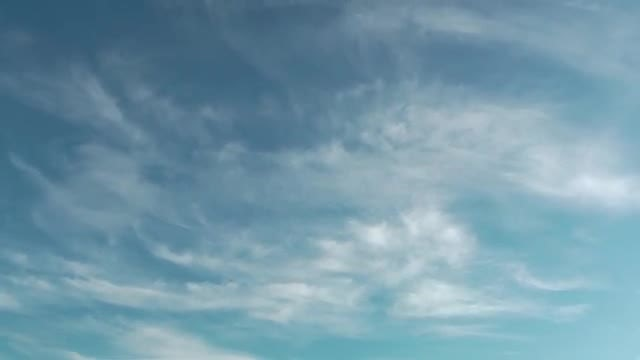 Fluffy Ringlet Clouds In Sky: Stock Video