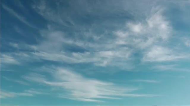 Wispy Clouds Drifting Forward: Stock Video