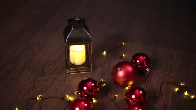 Christmas Lights On The Floor: Stock Video