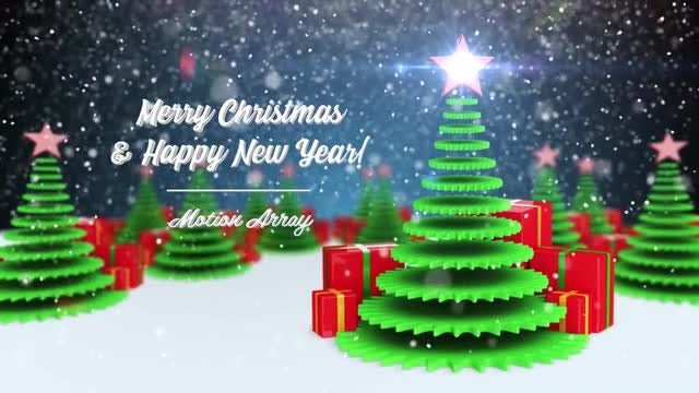 Merry Christmas and Happy New Year: After Effects Templates