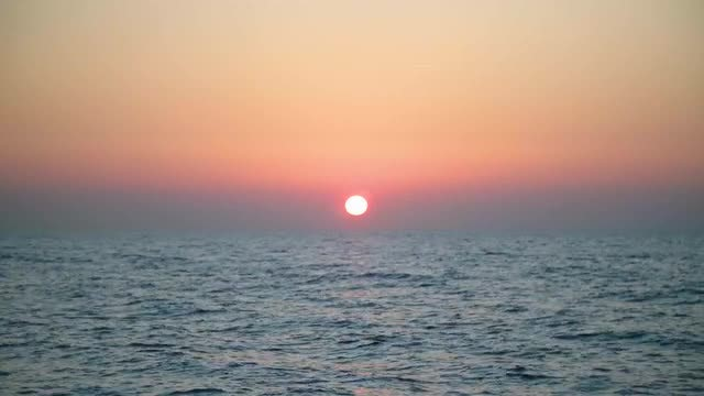 Amazing Sunset Over The Ocean: Stock Video