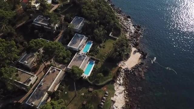 Aerial View Of A Beautiful Resort: Stock Video
