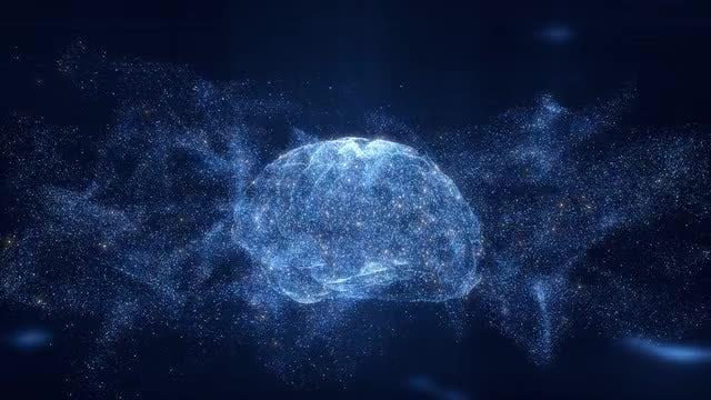 Digital Brain Hologram: Stock Motion Graphics