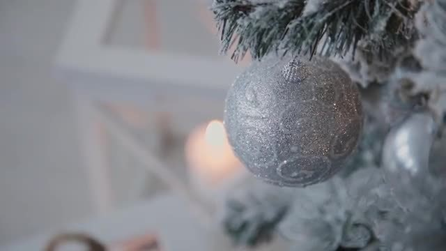 Christmas Tree With Decorative Toy: Stock Video