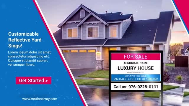 Real Estate Sign: After Effects Templates
