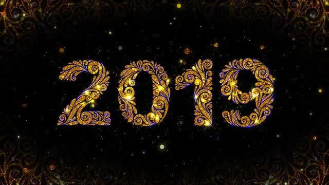 Ornate 2019 New Year Animation: Stock Motion Graphics