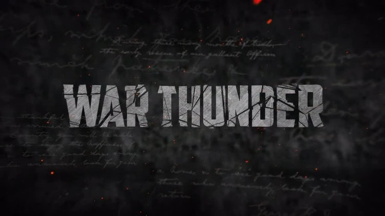 War Thunder Action Trailer: After Effects Templates