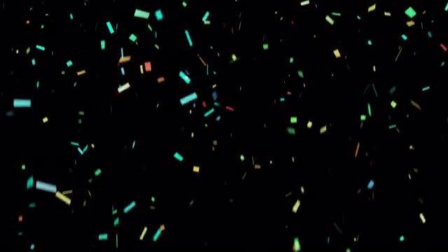 Colorful Confetti: Stock Motion Graphics