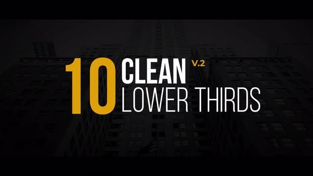 Clean Lower Thirds V.2: After Effects Templates