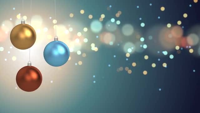 Christmas Balls And Lights Background: Stock Motion Graphics