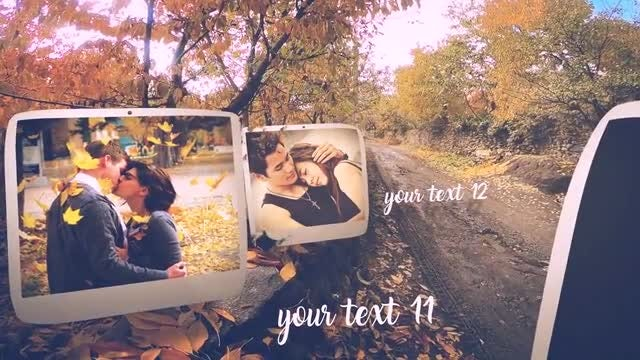 Autumn Slide: After Effects Templates