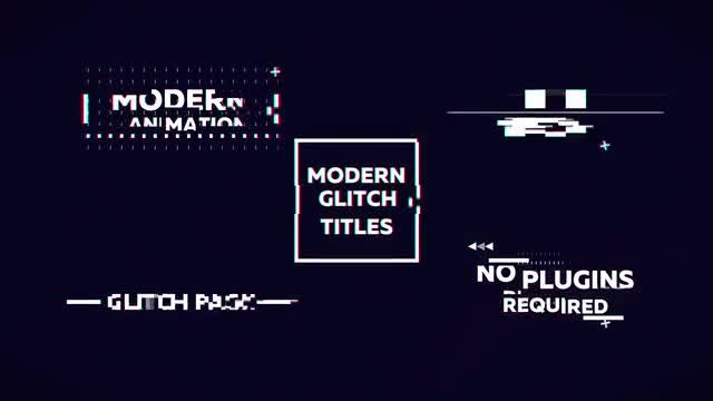 Distortion Glitch Titles: After Effects Templates