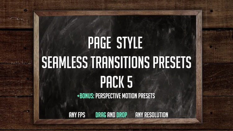 Page Style Seamless Transitions: Premiere Pro Presets