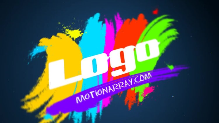 Paint Brush Logo: After Effects Templates