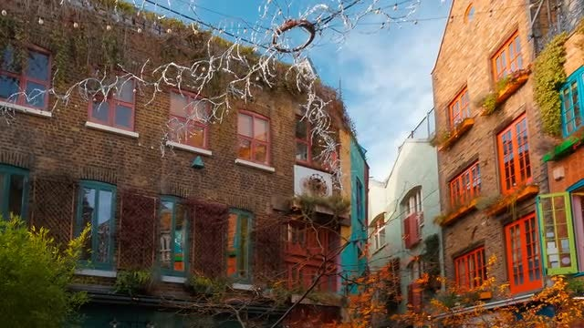 Neal's Yard In London, UK: Stock Video